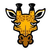 giraffa di cartone animato vettore