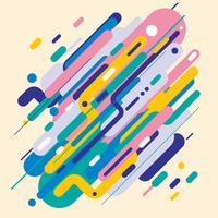 Stile moderno astratto con composizione fatta di varie forme arrotondate in forme di design colorato