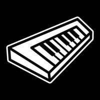 Icona di vettore di strumento musicale tastiera a tastiera pianoforte