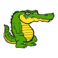 Illustrazione del fumetto di alligatore