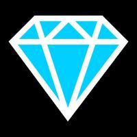 Logo vettoriale diamante