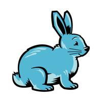 Grafica di coniglietto di cartone animato