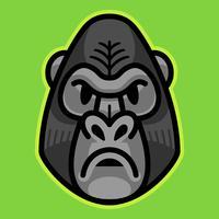 faccia scimmia scimmia gorilla vettore