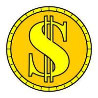 Icona di vettore di moneta dei soldi