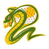 Illustrazione mortale del serpente della cobra vettore