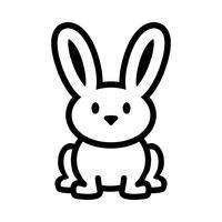 Grafica di coniglietto di cartone animato vettore