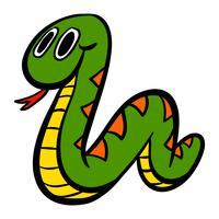 serpente simpatico cartone animato vettore
