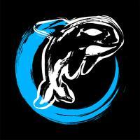 Illustrazione di Orca di balena killer vettore