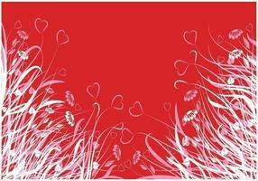 Confezione per carta da parati cuore fiore vettoriale