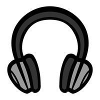 Icona di vettore di accessorio musicale cuffie