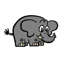Illustrazione di elefante simpatico cartone animato
