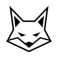 Icona di vettore di logo di faccia di volpe