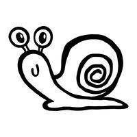 Illustrazione di cartone animato di lumaca vettore