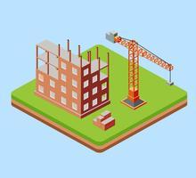 Edificio industriale della città vettore