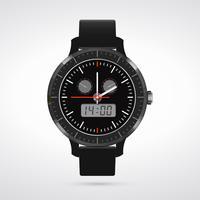 Orologio moderno e alla moda vettore