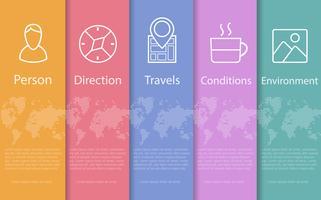 Viaggio astratto concetto vettore