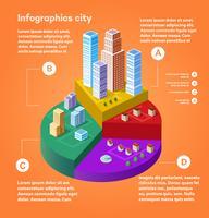 Infografica città vettore
