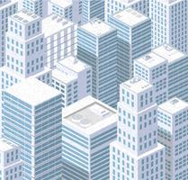 Città isometrica di urbano vettore