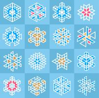 Modello di fiocco di neve di Natale vettore