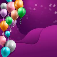 sfondo di celebrazione del compleanno, carta da parati palloncino di compleanno