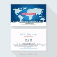 Modello di progettazione di biglietti da visita. vettore