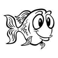 Icona di vettore del fumetto del pesce rosso