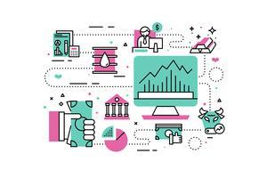 Illustrazione di investimento e finanza vettore