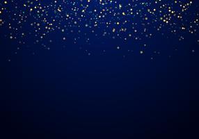 Lo scintillio dorato di caduta astratto illumina la struttura su una priorità bassa blu scuro con illuminazione.