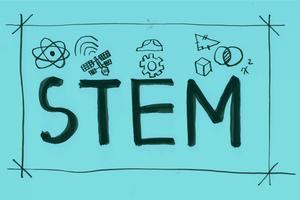 Illustrazione della bandiera di parola STAM vettore