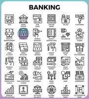 Icone di concetto di attività bancarie vettore