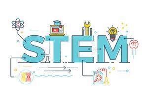 STEM - scienza, tecnologia, ingegneria, matematica vettore