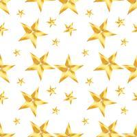 Modello senza cuciture con stella dorata su sfondo bianco. Vector ripetendo la trama.