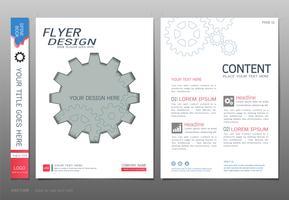 Vettore del modello di progettazione del libro delle coperture, concetti di ingegneria di affari.