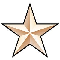 Illustrazione vettoriale stella d'oro