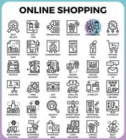 Icone dello shopping online vettore