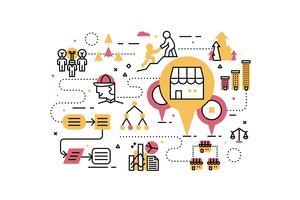 Illustrazione di affari di franchising vettore