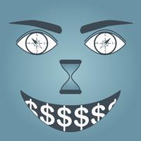 Occhi di soldi vettore