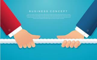 uomini d'affari tirare il concetto di business corda. sfondo di tiro alla fune
