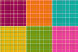 colori vivaci plaid vettoriale