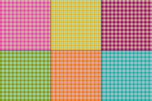 semplici plaid colorati vettoriale