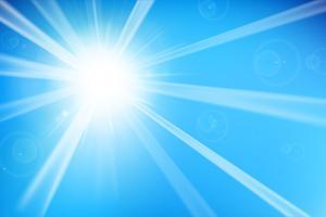 Priorità bassa blu astratta con luce solare 002