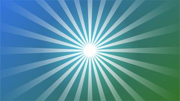 Astratto sfondo sfumato blu con effetto Starburst. e elemento travi a raggi di sole. forma starburst su bianco. Forma geometrica circolare radiale. vettore