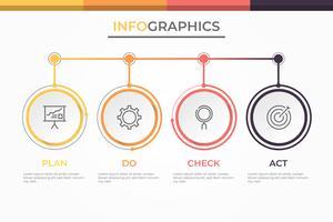 Modello di business moderno infografica 3D con 4 passaggi, opzioni o processi. Swot analisi infografica.