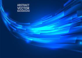 Priorità bassa dell'estratto di colore blu geometrico. Disegna lo stile delle onde con lo spazio della copia