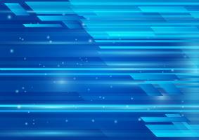 Il colore blu geometrico e l'illustrazione astratta leggera vector l'illustrazione l'ENV 10