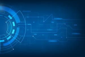 Sfondo astratto di tecnologia. tecnologia digitale mondo di informazioni commerciali. interfaccia grafica virtuale blu futuristica. vettore
