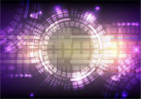 Illustrazione di vettore del fondo dell'estratto di tecnologia digitale