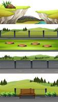 Set di scena del parco nazionale