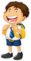 Ragazzo felice in uniforme scolastica