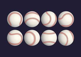 Insieme realistico di vettore di baseball